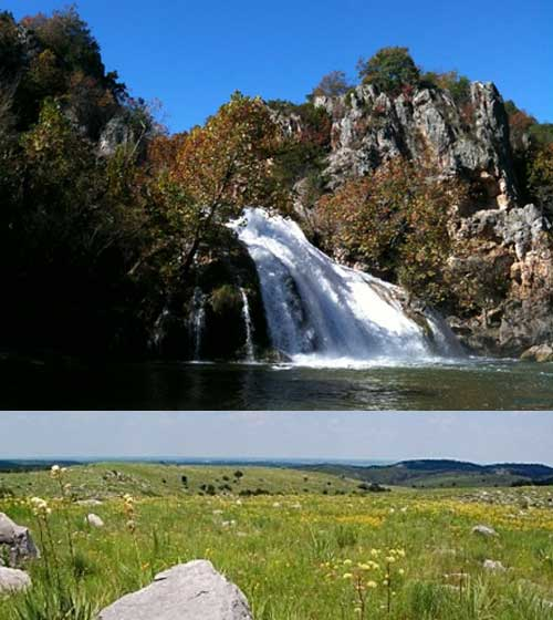 Oklahoma Tourism/top photo by Jim Werner, bottom photo by Bill Bryant