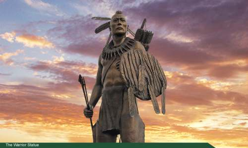 The Warrior sculpture at Chickasaw Nation Headquarters