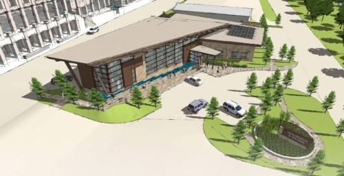 FSB Design Illustration: Birdseye View Chickasaw Visitor Center