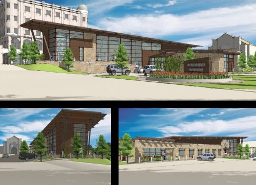 FSB Illustration: Preliminary Design Exterior Views of Chickasaw Visitor Center