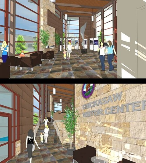 SB Illustration: Preliminary Design Interior Views of Chickasaw Visitor Center