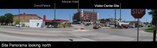 Chickasaw Visitor Center Site Panorama in Sulphur Oklahoma