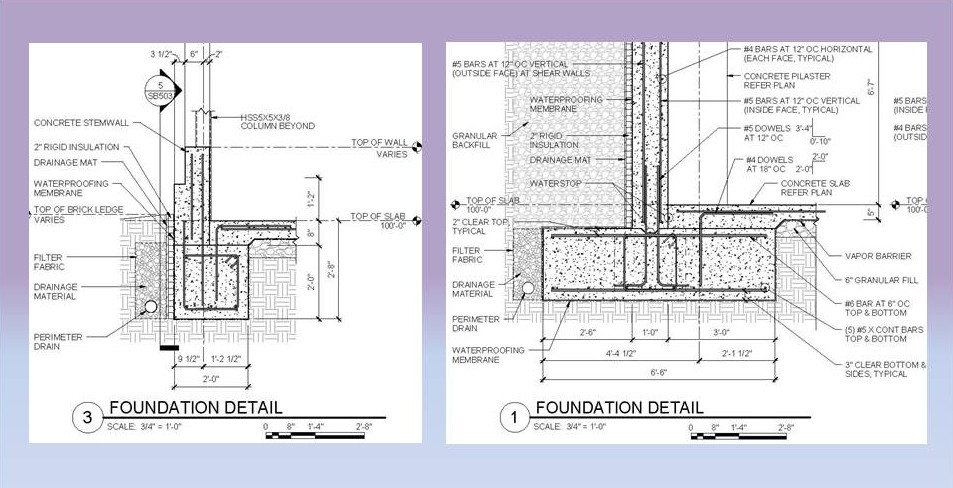 building construction guide foundation design column footings