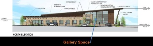 Gallery Space - north elevation