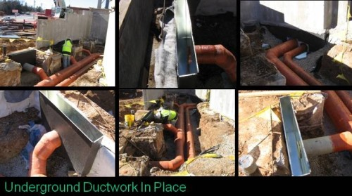 Underground Ductwork In Place
