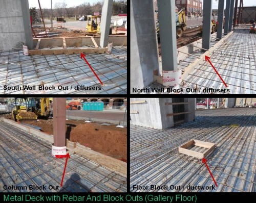 Metal Deck-Rebar-Blockouts