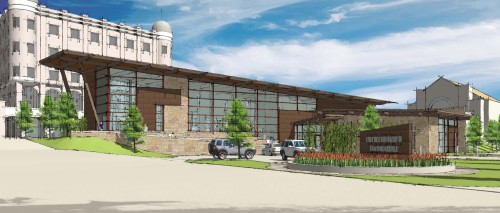 Chickasaw Visitor Center Rendering