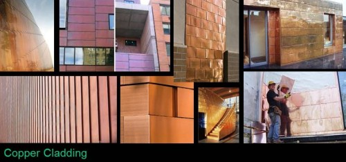 Copper Wall Cladding