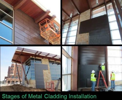 Metal Wall Cladding Installation