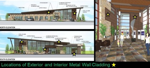Metal Wall Cladding Locations