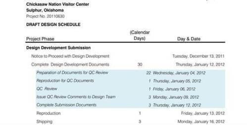 DD schedule dates